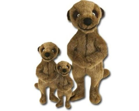 GOOD BOY MEERKAT DOG TOY PLUSH SQUEEKY MEERKATS DOGS PUPPIES